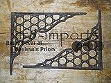 New 7 Cast Iron by YourLuckyDecor Antique Style LARGE RING Brackets, Garden Braces Shelf Bracket