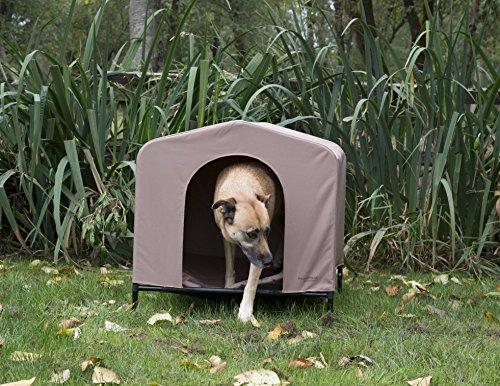 Heininger 3096 PortablePET Large Khaki HoundHouse Kennel and Shelter