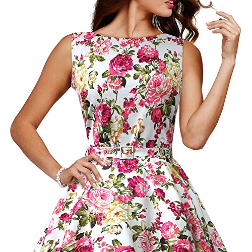 im Elfenbein Stil BlackButterfly Divinity 'Audrey' Jahre 50er Vintage Kleid wS4czIxqRH