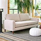 Sofab Camden Series 3-Seat Sofa, Modern Living Room Couch with Sturdy Wood Frame Construction - 78' W, Beige