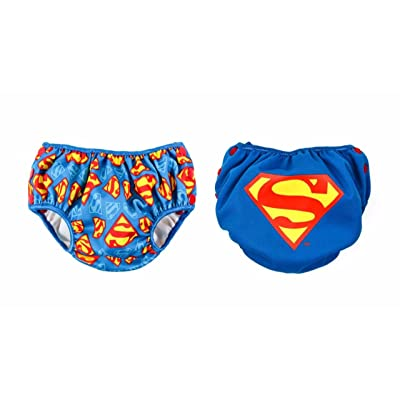Bumkins Baby Reusable Swim Diapers 2 Pack DC Comics Superman, Small