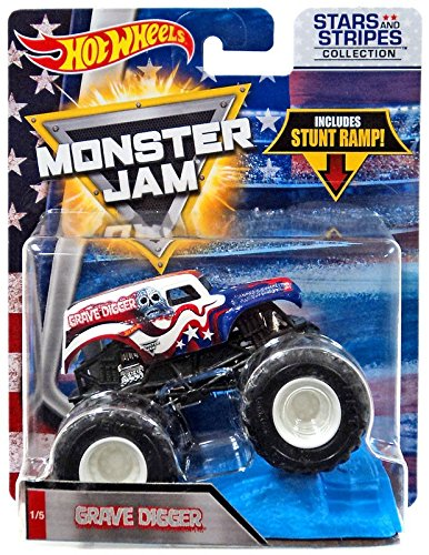 Hot Wheels Monster Jam 2018 Stars And Stripes Grave Digger 1 64 Scaled