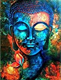 PRINTELLIGENT Lord Buddha Wall Art Canvas Painting (36 inches x 48 inches)