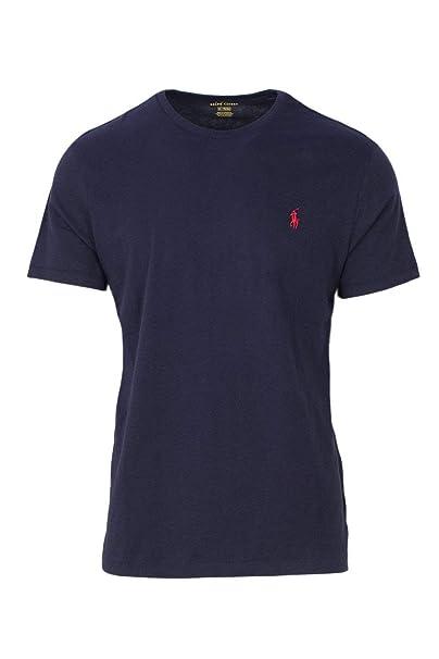 Polo Ralph Lauren Camiseta con cuello circular de hombre (XX-Large, Navy)