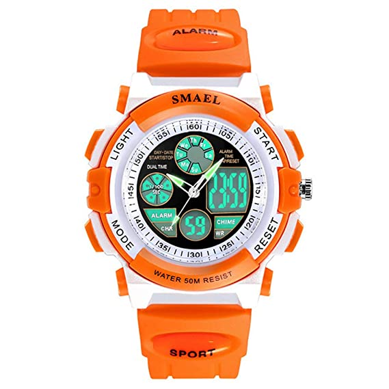 Amazon.com: Kids Analog Digital Watch Boys Girls Lightweight ...