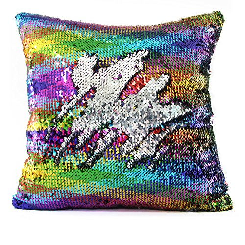 Rainbow Mermaid Sequin Pillowcase - Gifts for Girls