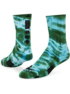 Kelly Green//Gold - Large Red Lion Maxim Crew Sock