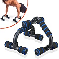 SGODDE Push Up Bars Pushup Handle with Cushioned Foam Grip and Non-Slip Sturdy Structure Portable Push Up Handles for…