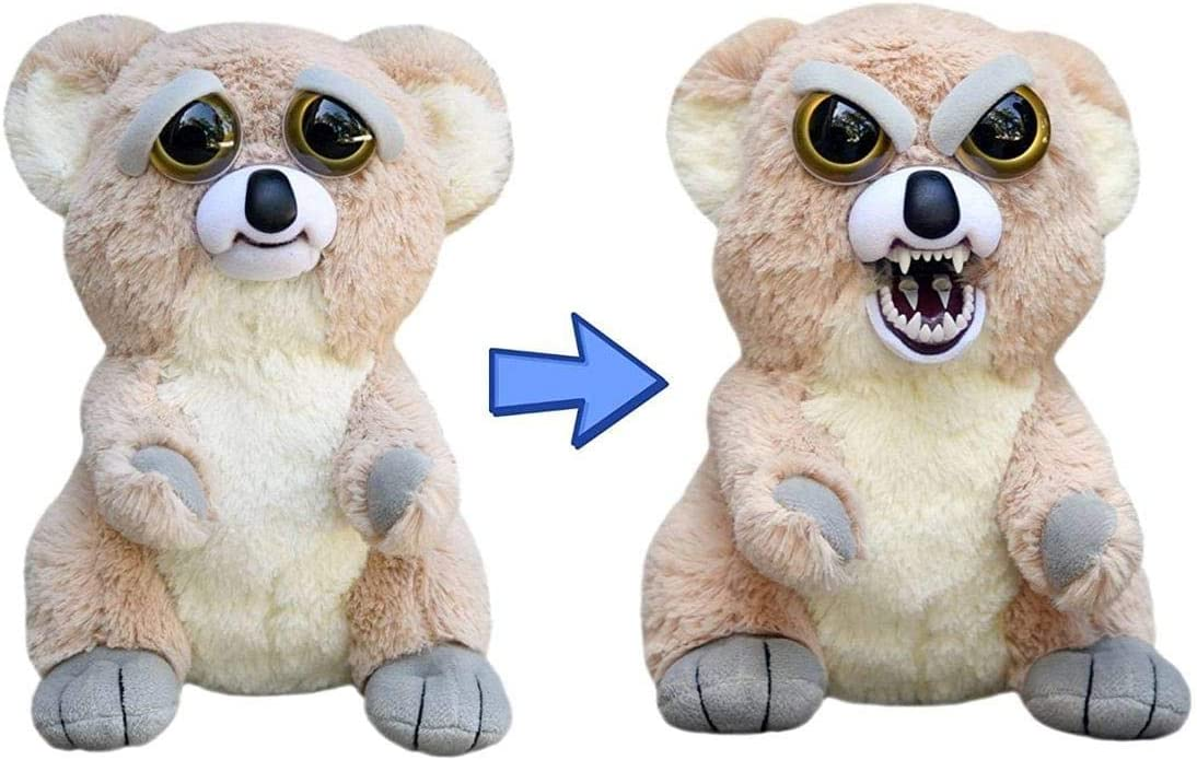 Amazon Com Feisty Pets Liza Loca The Koala Goes From Awww To Ahhh With A Squeeze Toys Games