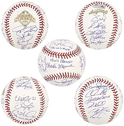 2a6e5ab8959 Image Unavailable. Image not available for. Color  Rawlings Philadelphia  Phillies 2008 World Series Champions Team Signed Baseball - Fanatics  Authentic ...