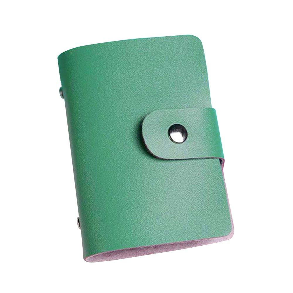 Army Green Hiroo Moda Uomini Donne Pelle Carta di credito Biglietto da visita Titolare Semplice Case Portafoglio card bag