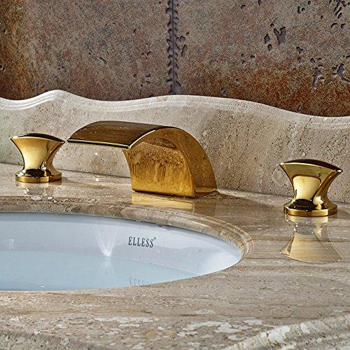 gold bathroom sink faucet - 5