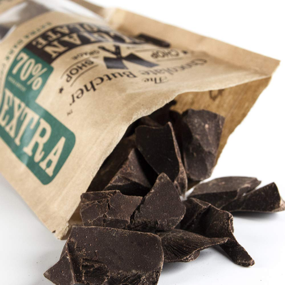 Extra Dark Chocolate 70% Cocoa Content - Chopped for Snacking or Melting by The Chocolate Butcher (Image #2)