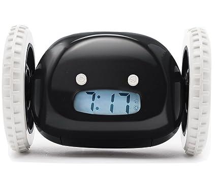 amazon com clocky the original runaway alarm clock on wheels