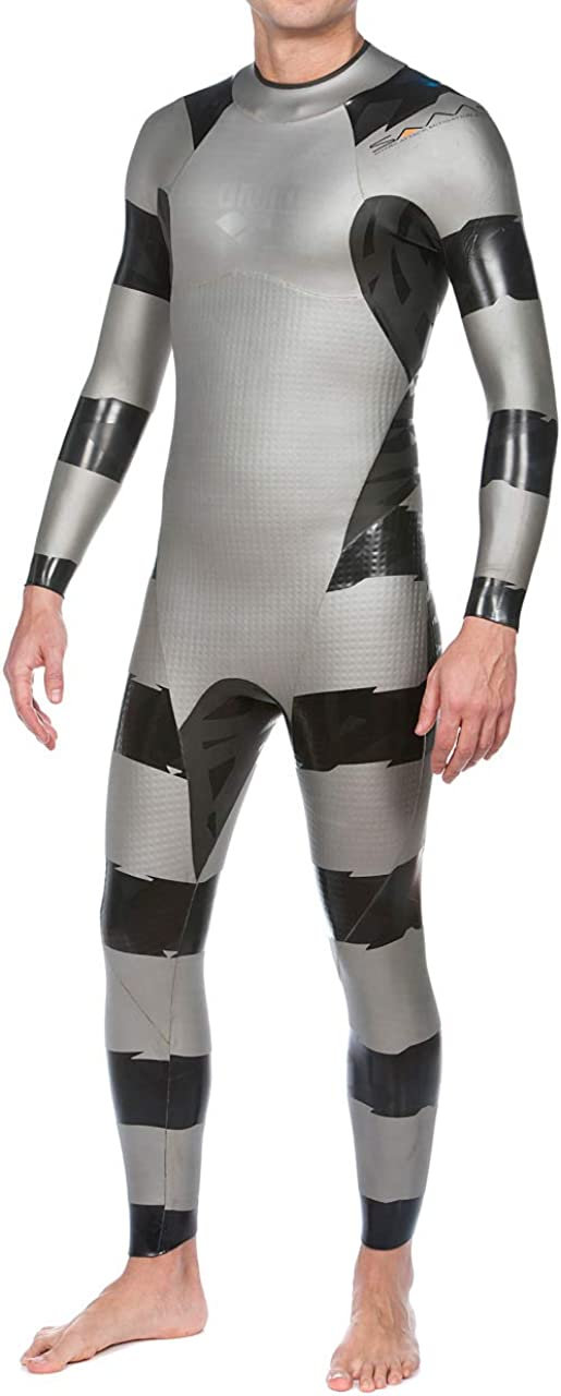 arena Men's SAMS Triathlon Wetsuit Full Sleeve Shark Deterrent Neoprene for Open Water Swimming, Ironman and USAT Approved: Clothing