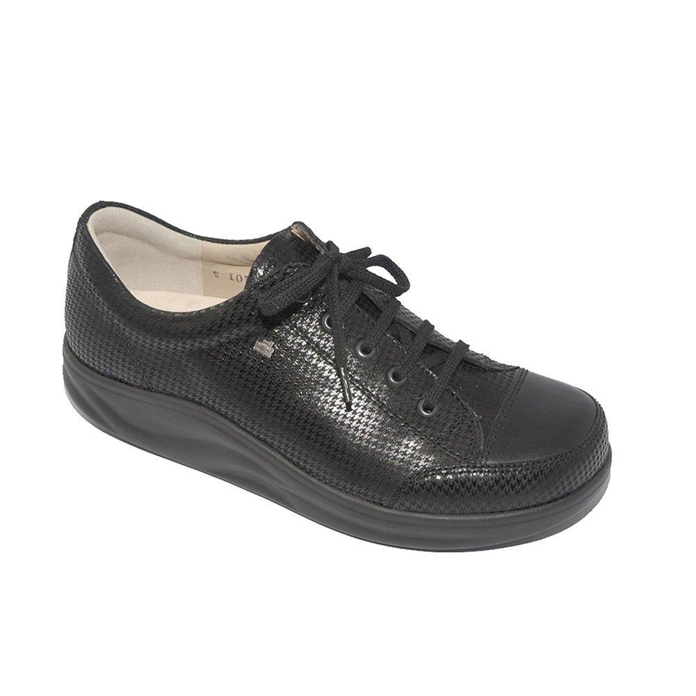 Finn Comfort Women's Ikebukuro Modern Fashion Sneakers, Grey, Leather, 6.5 UK / 9 M US