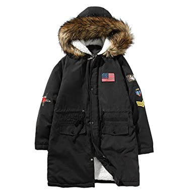 Mens Winter Hooded Military Parka Jacket Trench Cotton jacket at Amazon  Men s Clothing store  806b2e88aca