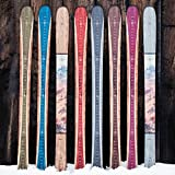 Growth Chart Art | Wooden Ski Growth Chart | Baby Skis | Ski Gifts | Wall Hanging Wood Height Chart for Measuring Kids, Children, Boys, Girls | Rust Red