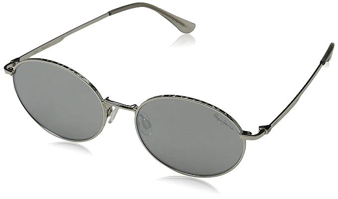 Pepe Jeans Flynn Gafas de sol, Plateado (Shiny Silver/Grey ...