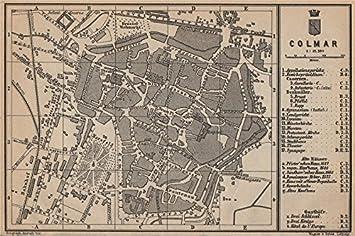 Elsass Karte Colmar.Colmar Town City Plan Rhin Elsass Frankreich Kolmar I Colmer