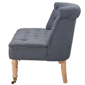 Luckyfu questo sofá de Tela 94 x 67 x 76 cm Gris Oscuro ...