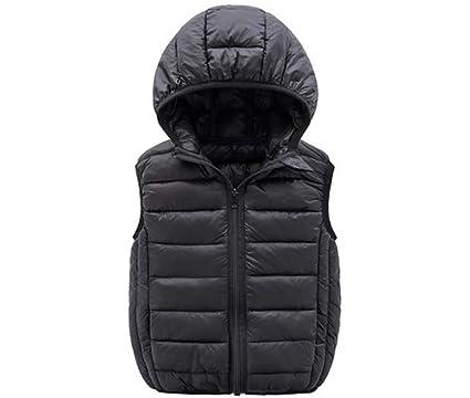 fd0bb4a78622 Amazon.com  Waistcoat Vest Jacket Warm Thick Solid Color Kids Boys ...