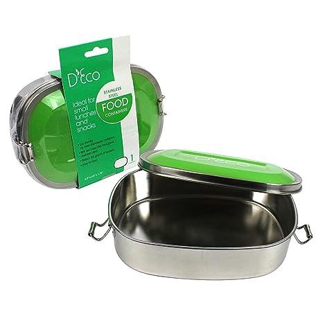 Amazon.com: Acero inoxidable Lunch Box Contenedor de ...