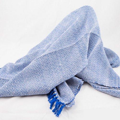 sansukjai-100-cotton-deep-blue-soft-hand-woven-blanket-mattress-cover-size-110-cm-x-200-cm