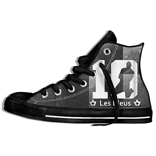 b15bd52289f Amazon.com  Kylian Mbappe 10 France Soccer Team High Top Classic Canvas  Fashion Shoes Trainers Sneakers  Clothing