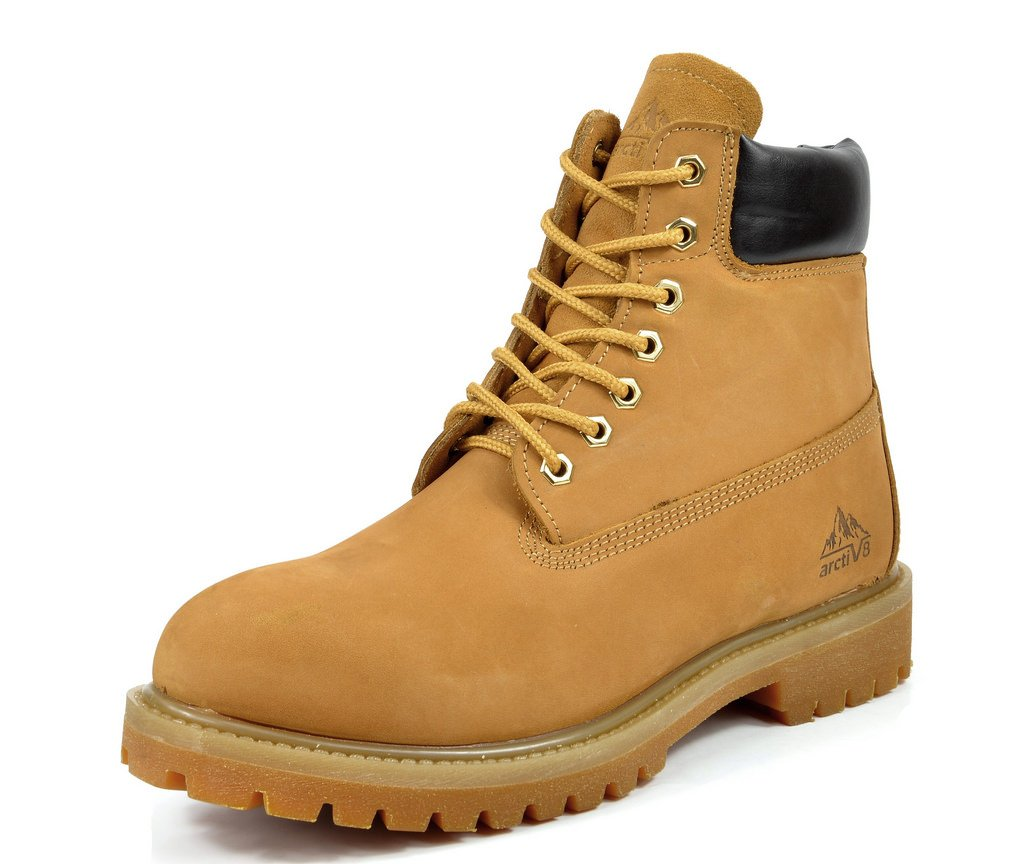 arctiv8 Men's Concrete-01 Wheat 6 inches Full-Grain Leather Work Boots - 13 M US