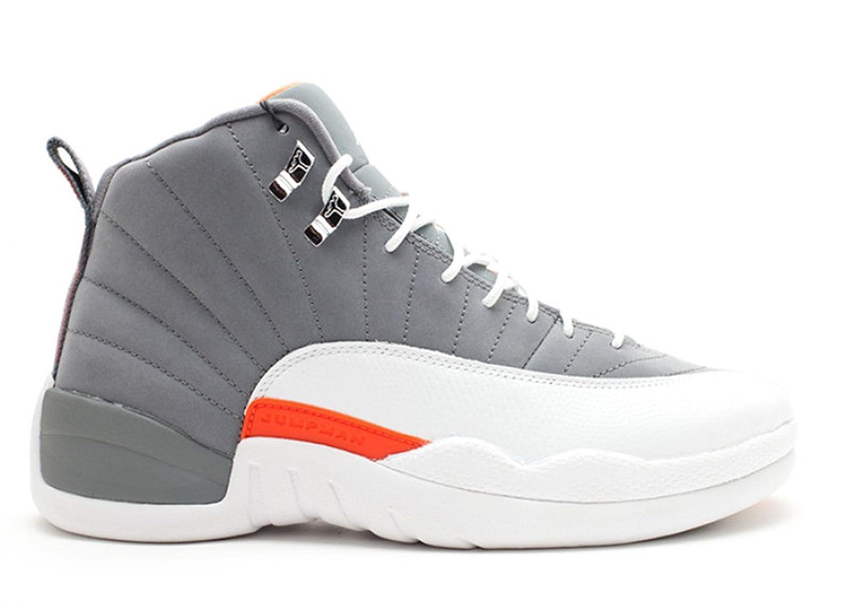 2017 Sports Sneakers Air Jordan 12 Retro Cool Grey White Team Orange Mens Basketball Shoe