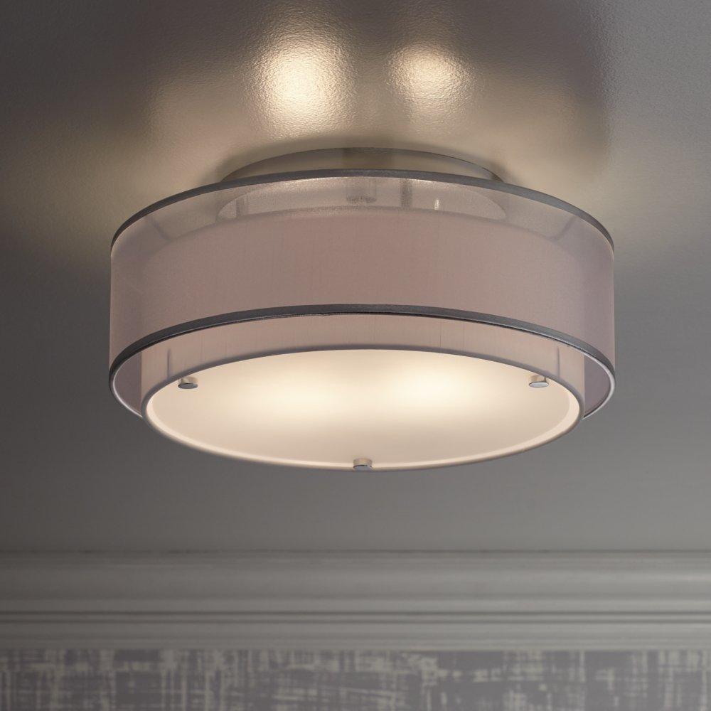 Possini Euro Design Double Organza 16 Wide Ceiling Light