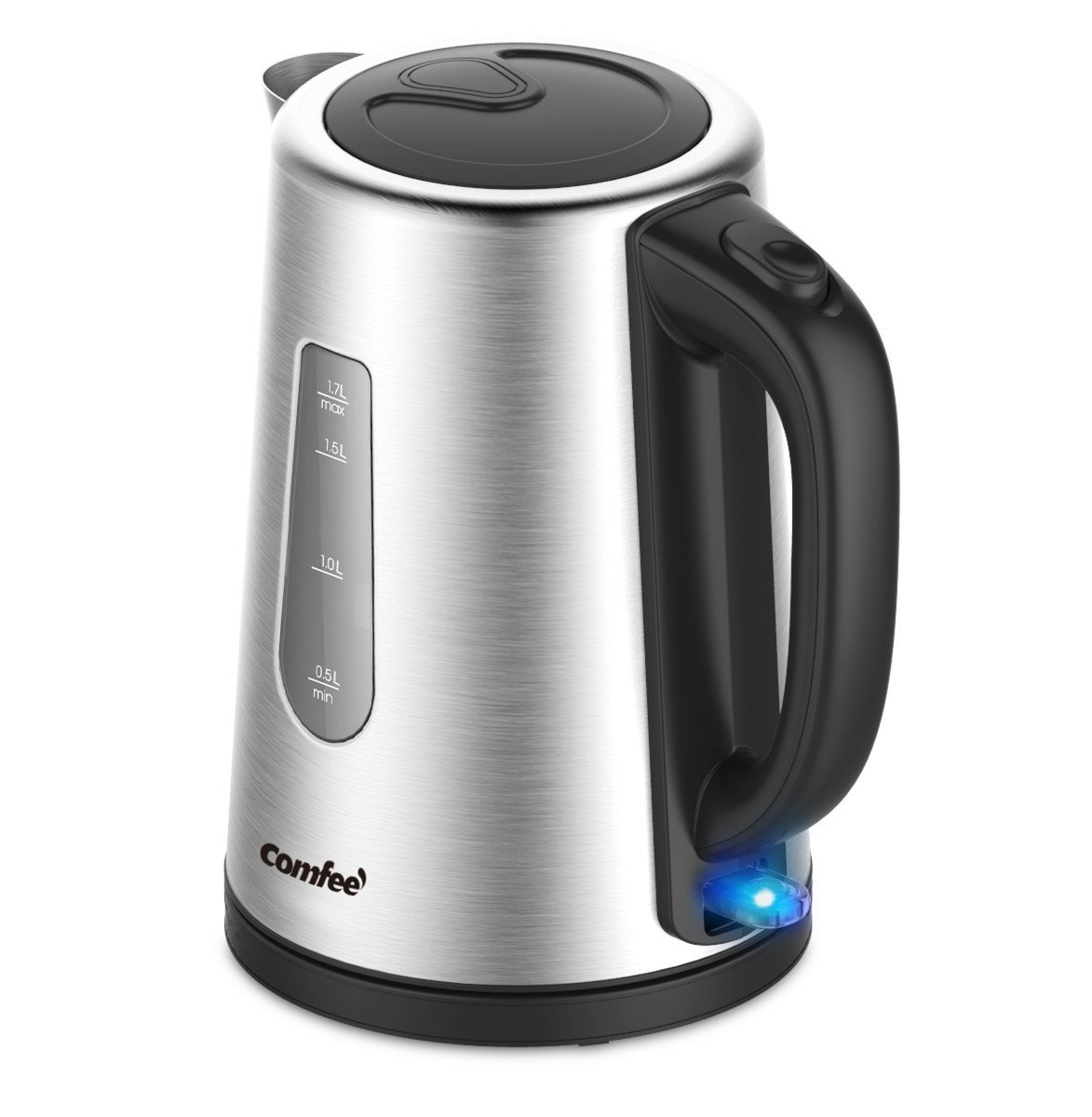 1.7L Stainless Steel Cordless Electric Kettle Tea Auto Shut Off ...