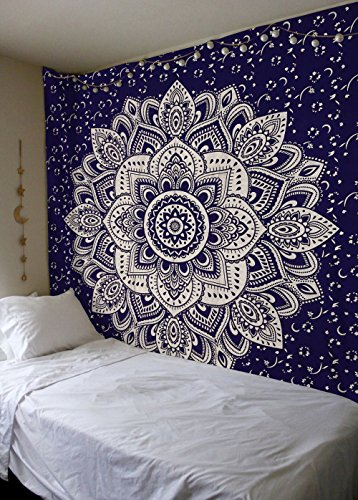 """Exclusive """" Orignal Blue Silver Ombre Tapestry by Labhanshi"""""""