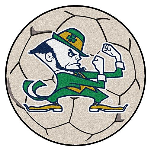 FANMATS NCAA Notre Dame Fighting Irish Nylon Face Soccer Ball Rug - Irish Notre Dame Soccer Ball