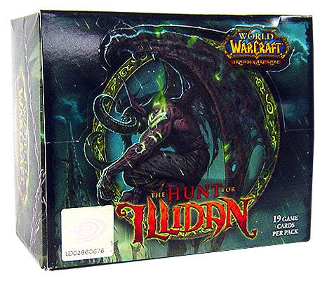 Upper Deck Booster Box - World of Warcraft TCG WoW Trading Card Game Hunt for Illidan Booster Box (24 Packs)