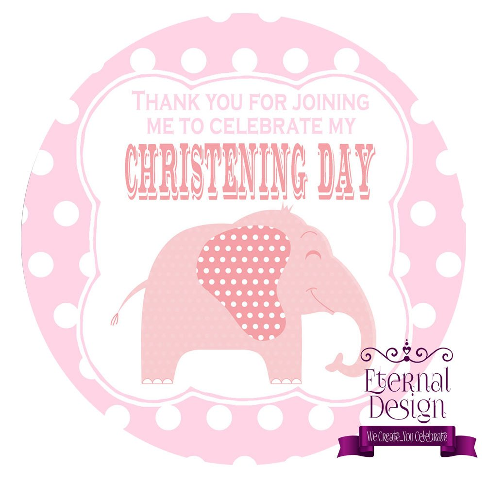 Eternal Design 48 x 30mm Christening Day White Stickers CDCS 10