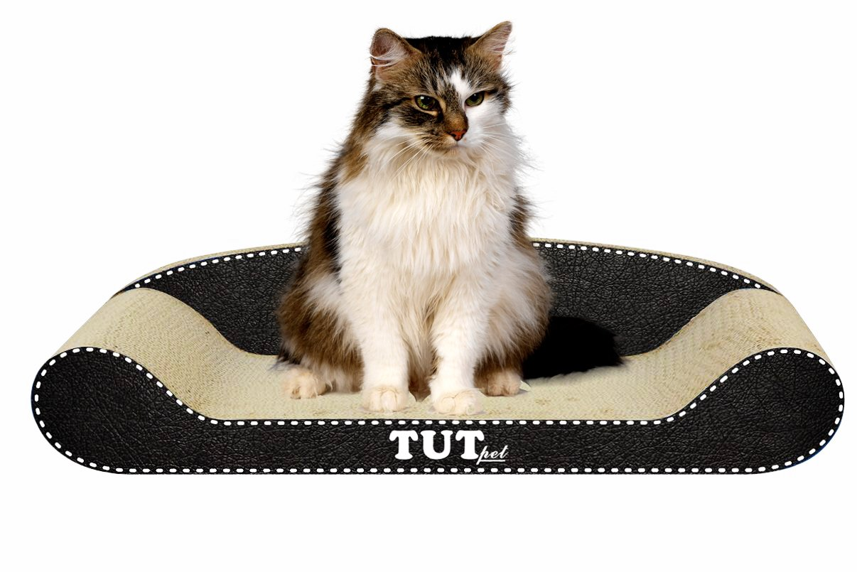 TUT Pet Unique Home Couch-Styled Cat Scratching Post Eco-friendly Kitty  Sleep Scratch Lounge Bed Exercise Pad De-claw Scratcher With Premium  Catnip: