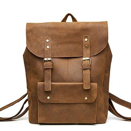9b74e0df1098 Amazon.com: Laptop Top Handle Backpack,Leather College School ...