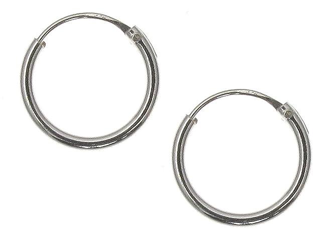 24 opinioni per Touch Jewellery TJ0560- Orecchini a cerchio semplici in argento puro, 10 mm