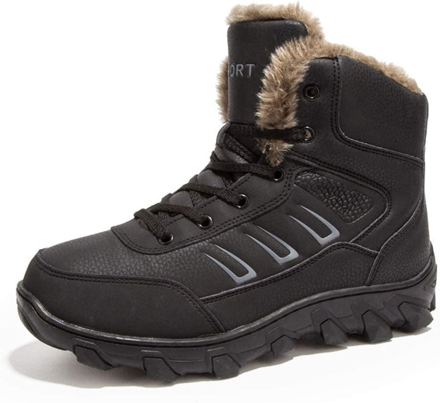 Warm Men Winter Boots for Men Warm Snow Shoes Mens Ankle Snow Boot