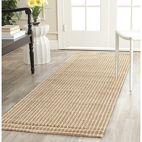 Safavieh Natural Fiber Collection NF449A St Lucia Loop Ivory and Beige Sisal Runner (2'6