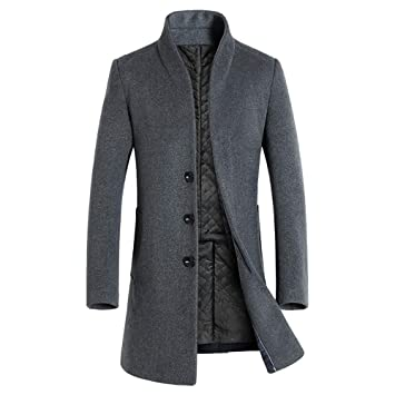 Amazon.com: 2018 Men Button Smart Overcoat Coats,Mens Jacket Warm Winter Trench Long Outwear (M, Black): Electronics