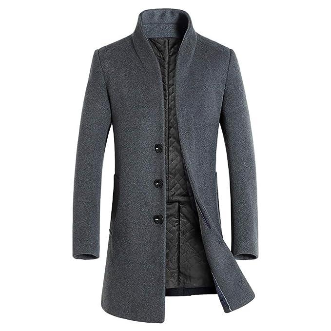 new style 3f46b 5d81a ALIKEEY Giacca Invernale in Lana da Uomo Slim Fashion Giacca ...