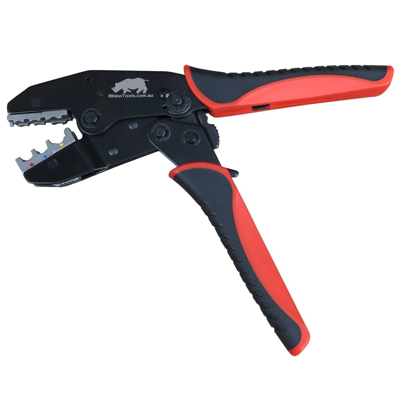 5 Die Quick Change Ratchet Crimper Includes Ignition Lead Die Automotive Cable Crimping Kit