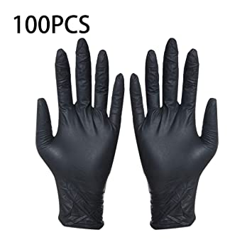 Tattoo Accesories Tattoo & Body Art 100pcs Disposable Black Gloves Household Cleaning Washing Gloves Nitrile Laboratory Nail Art Medical Tattoo Anti-static Gloves
