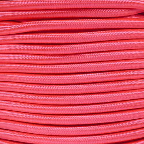 Paracord Planet 1/4 Inch Elastic Cord Crafting Stretch String, Made in USA (50 Feet, Neon Pink)