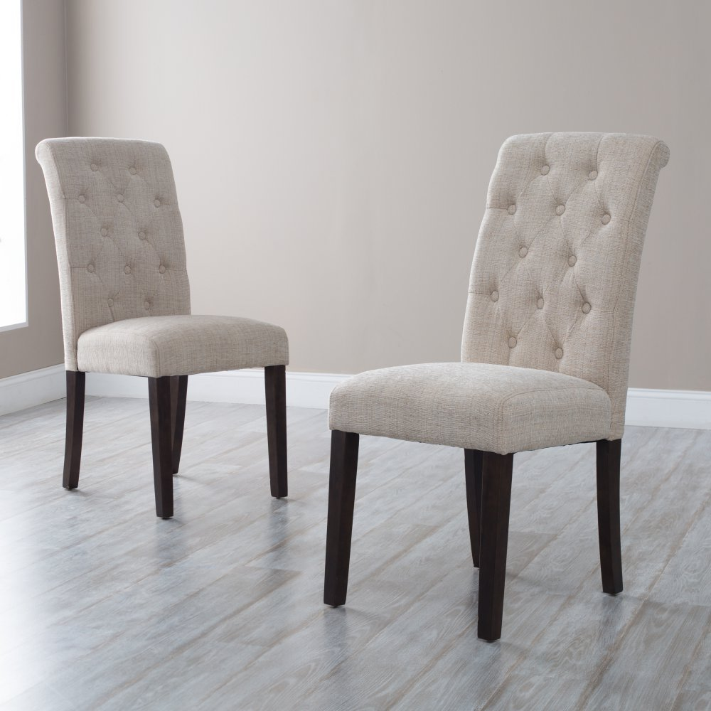 Amazon.com - Tufted Parsons Dining Chairs - Set of 2 - Chairs