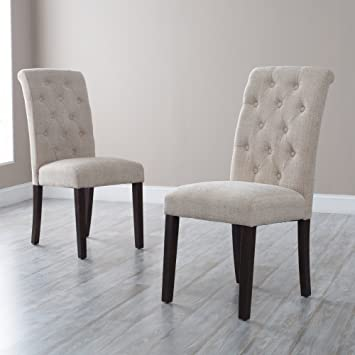 Great Tufted Parsons Dining Chairs   Set Of 2