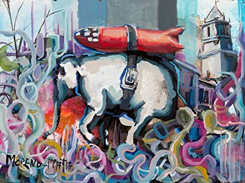 A Cuestas Con Nuestra Bomba Banksy Tribute Pintura Original Hecha A Mano